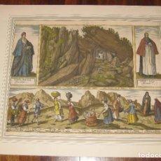 Art: SIERRA DE SAN ADRIÁN, ENTRE GUIPÚZCOA Y ÁLAVA. AÑO 1572. CIVITATES ORBIS TERRARUM. ORIGINAL.. Lote 105174127