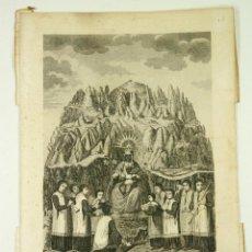Arte: MONTSERRAT , NUESTRA SRA. DE MONTSERRATE, ED. BORDAS, BARCELONA 1859. 24X34CM.. Lote 105237079