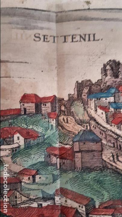 Arte: FRANS HOGENBERG,1580, GRABADO ILUMINADO DEL PUEBLO DE SETENIL DE LAS BODEGAS,(CADIZ),S. XVI - Foto 9 - 105274595