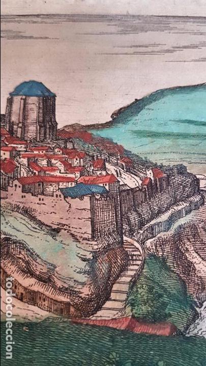 Arte: FRANS HOGENBERG,1580, GRABADO ILUMINADO DEL PUEBLO DE SETENIL DE LAS BODEGAS,(CADIZ),S. XVI - Foto 10 - 105274595