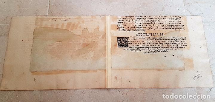 Arte: FRANS HOGENBERG,1580, GRABADO ILUMINADO DEL PUEBLO DE SETENIL DE LAS BODEGAS,(CADIZ),S. XVI - Foto 11 - 105274595
