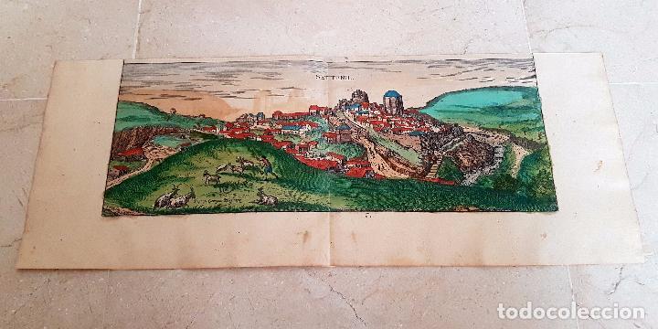 Arte: FRANS HOGENBERG,1580, GRABADO ILUMINADO DEL PUEBLO DE SETENIL DE LAS BODEGAS,(CADIZ),S. XVI - Foto 13 - 105274595
