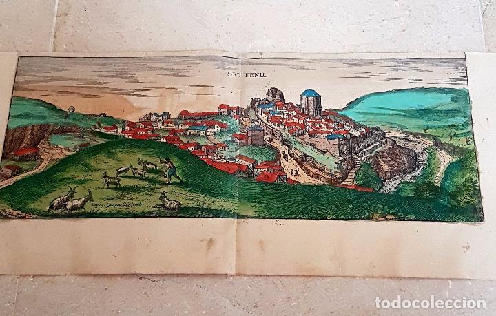Arte: FRANS HOGENBERG,1580, GRABADO ILUMINADO DEL PUEBLO DE SETENIL DE LAS BODEGAS,(CADIZ),S. XVI - Foto 14 - 105274595