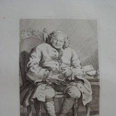 Arte: SIMON LORD LOVAT GRABADO POR WILLIAM HOGARTH PUBLICADO POR JANE HOGARTH EN 1775. Lote 105350539