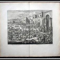 Arte: 1729 - GRABADO BIBLIA - JOSE VENDE TRIGO A SUS HERMANOS - LUYKEN - ENGRAVING - GRAVURE. Lote 57109530