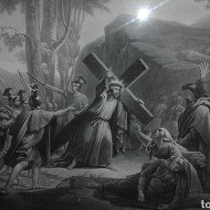 Arte: BONITO ESCENA BÍBLICA XIX O PRINCIPIO XX ENMARCADA. Lote 105847044