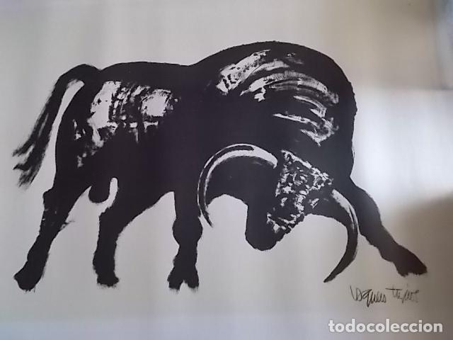 EXCELENTE GRABADO DEL FAMOSO PINTOR JOAQUIN VAQUERO TURCIOS /MEDIDAS 80X60 (Arte - Grabados - Contemporáneos siglo XX)