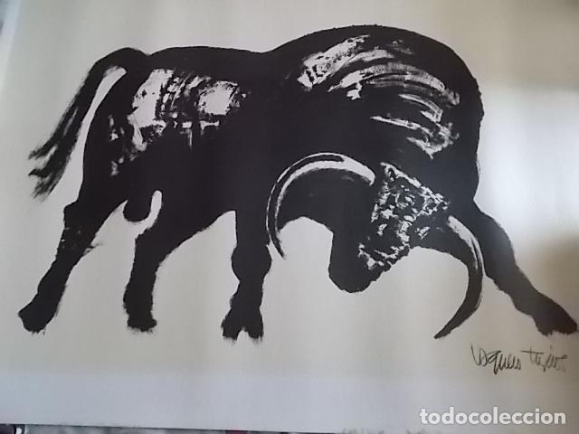 Arte: EXCELENTE GRABADO DEL FAMOSO PINTOR JOAQUIN VAQUERO TURCIOS /MEDIDAS 80X60 - Foto 4 - 179751740