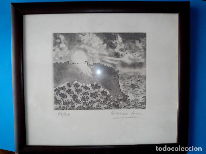GRABADO FIRMADO Y NUMERADO, ENMARCADO (Arte - Grabados - Contemporáneos siglo XX)