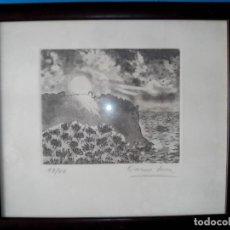 Arte: GRABADO FIRMADO Y NUMERADO, ENMARCADO. Lote 105969551