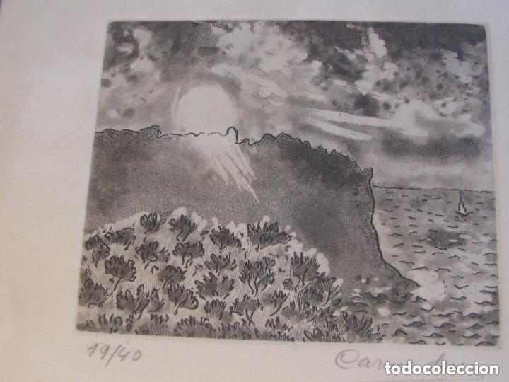 Arte: grabado firmado y numerado, enmarcado - Foto 2 - 105969551