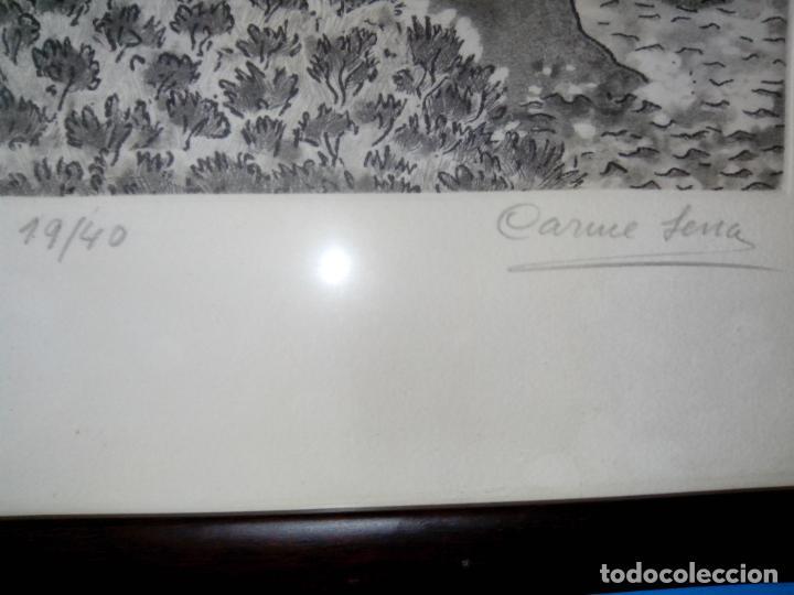 Arte: grabado firmado y numerado, enmarcado - Foto 3 - 105969551