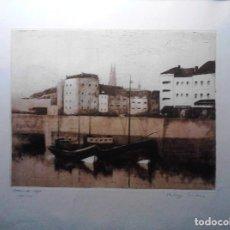 Arte: GRABADO VISTA OOSTENDE - HOLANDA - AGUAFUERTE Y AGUATINTA - FIRMADO Y NUMERADO. Lote 106186603