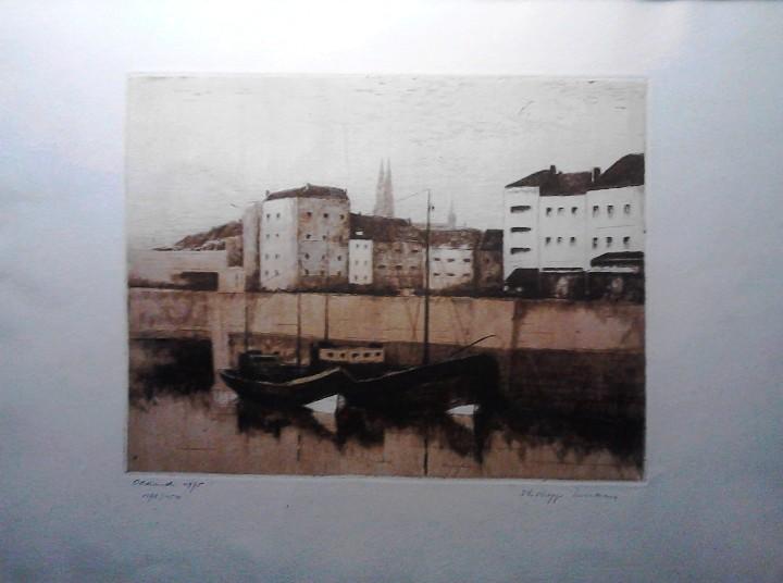 Arte: GRABADO VISTA OOSTENDE - HOLANDA - AGUAFUERTE Y AGUATINTA - FIRMADO Y NUMERADO - Foto 2 - 106186603