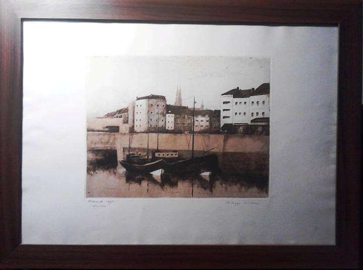 Arte: GRABADO VISTA OOSTENDE - HOLANDA - AGUAFUERTE Y AGUATINTA - FIRMADO Y NUMERADO - Foto 7 - 106186603