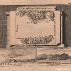 Arte: GRABADO DE GIBRALTAR - AÑO 1707 - ORIGINAL. Lote 107002615