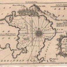 Arte: GRABADO DE CARTAGENA - AÑO 1762 - ORIGINAL. Lote 107035051