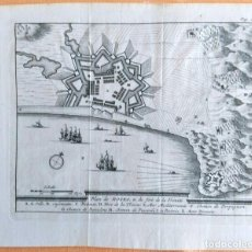 Arte: PLANO ANTIGUO ROSAS GERONA AÑO 1707 CON CERTIFICADO AUTENTICIDAD. MAPAS ANTIGUOS CATALUÑA. Lote 107205083