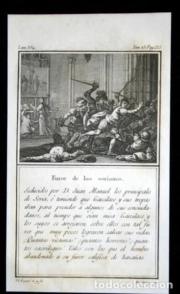 1841 GRABADO - LOS PRINCIPALES DE SORIA - FUROR DE LOS SORIANOS - 165X95MM (Arte - Grabados - Modernos siglo XIX)
