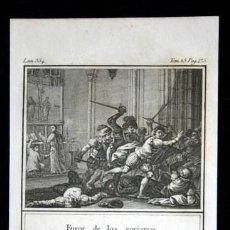 Arte: 1841 GRABADO - LOS PRINCIPALES DE SORIA - FUROR DE LOS SORIANOS - 165X95MM. Lote 107490567