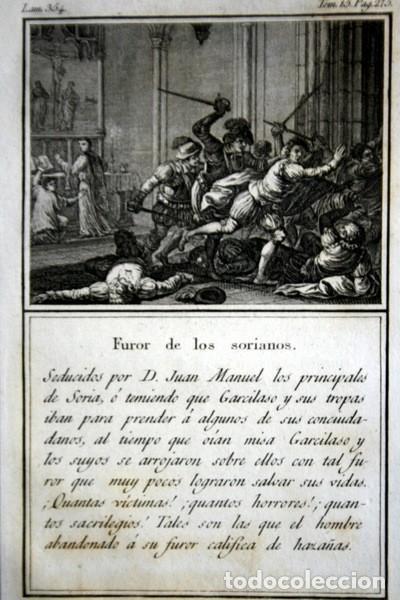 Arte: 1841 GRABADO - LOS PRINCIPALES DE SORIA - FUROR DE LOS SORIANOS - 165x95mm - Foto 2 - 107490567