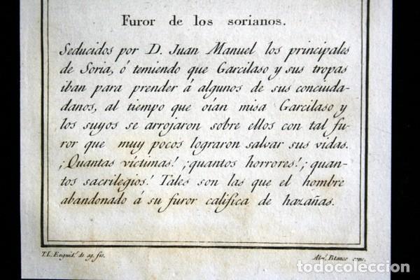Arte: 1841 GRABADO - LOS PRINCIPALES DE SORIA - FUROR DE LOS SORIANOS - 165x95mm - Foto 4 - 107490567