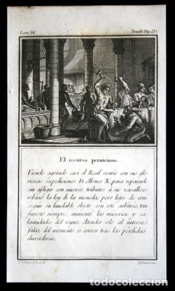 1841 GRABADO - ALONSO X - TRIBUTOS - RECURSO PERNICIOSO - 168X96MM (Arte - Grabados - Modernos siglo XIX)