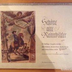 Arte: CALENDARIO TRECE GRABADOS C. N. SCHURTZ Y P. TROSCHEL - ALTA ESCUELA DE EQUITACION -. Lote 107528395