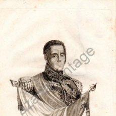 Arte: CARLISMO, GENERAL MANUEL LORENZO. GRABADO. 1848.. Lote 107649799