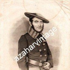 Arte: SIGLO XIX ANGEL DE SAINT SILVAIN BARON DE LOS VALLES GUERRAS CARLIS,185X255 MM, MARÉ LO GRABÓ.. Lote 107650139