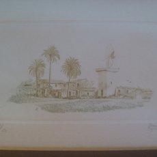 Arte: BONITO GRABADO ORIGINAL DE BAURÁ AGULLES ( FIRMA UN POCO ILEGIBLE ), NUMERADO 1/ 175 . EN PASPARTU. Lote 107736383