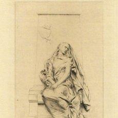 Arte: AGUAFUERTE ORIGINAL 1889. LE SOUVENIR (MME. CHARLES FERRY), DE ANTONIN MERCIÉ. GRABÓ ALBERT DUVIVIER. Lote 107805019