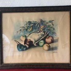 Arte: GRABADO DE RAMON RIBAS RIUS, ENMARCADO 1960'S.. Lote 107886979