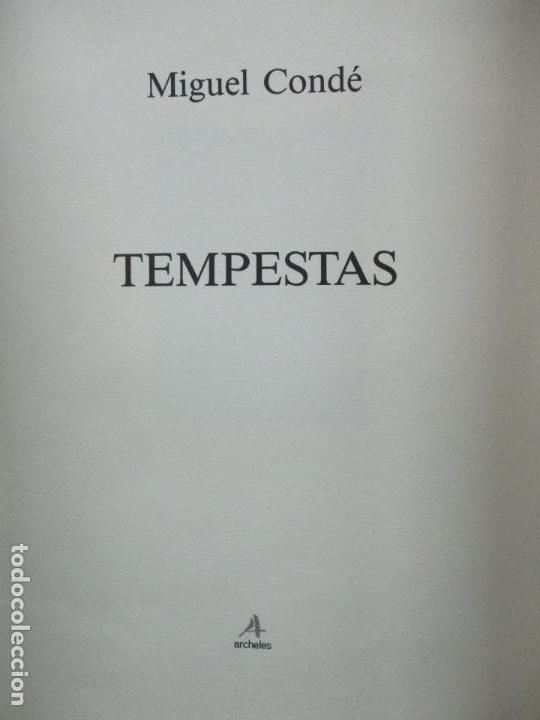 Arte: TEMPESTAS. MIGUEL CONDÉ. 1991. 6 AGUAFUERTES ORIGINALES FIRMADOS. EJEMPLAR PRUEBA DE ARTISTA. - Foto 4 - 107918031