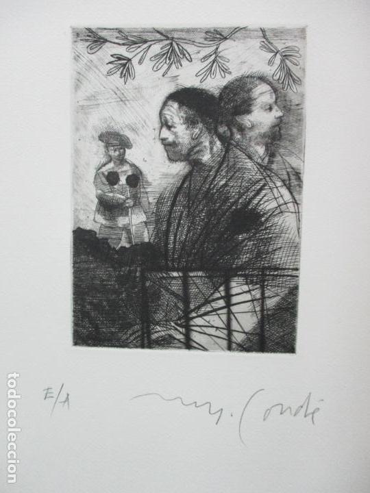 Arte: TEMPESTAS. MIGUEL CONDÉ. 1991. 6 AGUAFUERTES ORIGINALES FIRMADOS. EJEMPLAR PRUEBA DE ARTISTA. - Foto 6 - 107918031