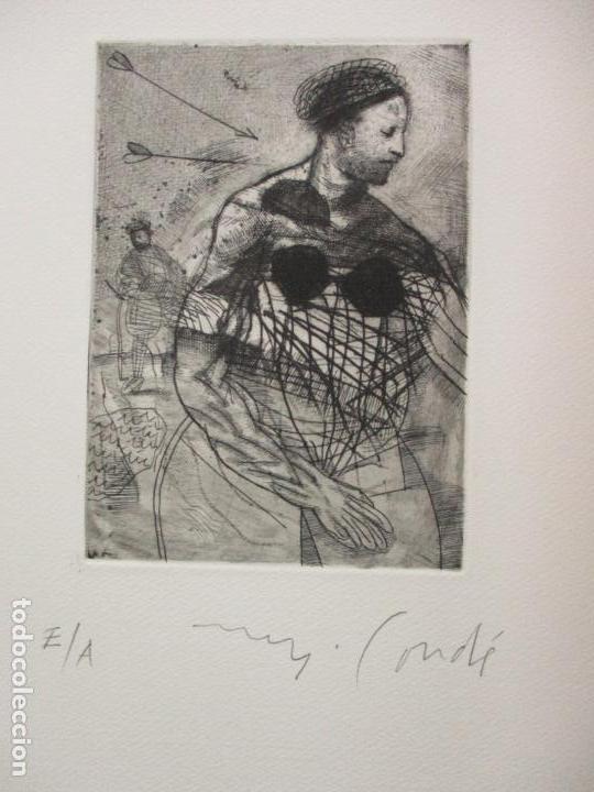 Arte: TEMPESTAS. MIGUEL CONDÉ. 1991. 6 AGUAFUERTES ORIGINALES FIRMADOS. EJEMPLAR PRUEBA DE ARTISTA. - Foto 7 - 107918031
