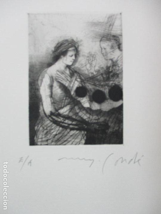 Arte: TEMPESTAS. MIGUEL CONDÉ. 1991. 6 AGUAFUERTES ORIGINALES FIRMADOS. EJEMPLAR PRUEBA DE ARTISTA. - Foto 9 - 107918031