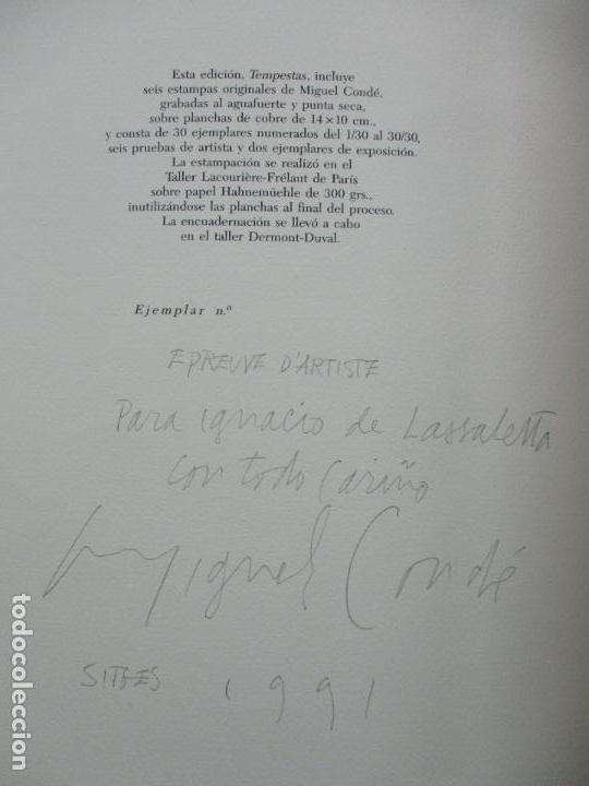Arte: TEMPESTAS. MIGUEL CONDÉ. 1991. 6 AGUAFUERTES ORIGINALES FIRMADOS. EJEMPLAR PRUEBA DE ARTISTA. - Foto 11 - 107918031