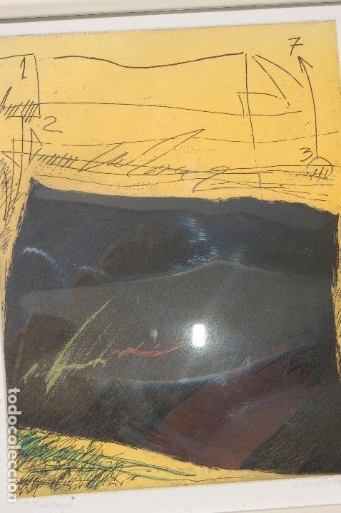 Arte: Nuño Ruiz. Autor de Málaga. Grabado al aguatinta de 18x23,5 enmarcado en 36x41. Año 1982,PE - Foto 2 - 107972487