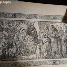 Arte: ANTIGUO GRABADO HISTORIA DE LA LITERATURA - LEER - EL NACIMIENTO DE JESUCRISTO. Lote 108106203