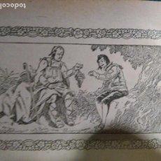 Arte: ANTIGUO GRABADO HISTORIA DE LA LITERATURA - LEER - EL LAZARILLO DE TORMES. Lote 108107319