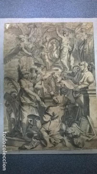 GRABADO ANTIGUO.MEDIDA 19X26 CM (Arte - Grabados - Antiguos hasta el siglo XVIII)