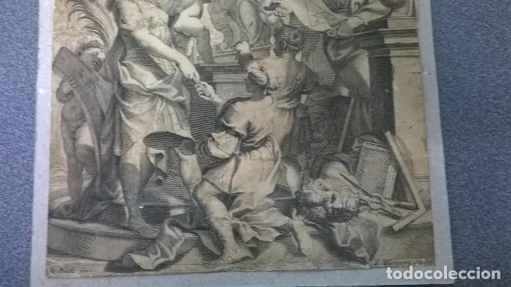 Arte: Grabado antiguo.Medida 19x26 cm - Foto 3 - 108389783