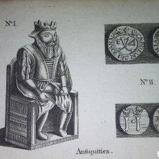Arte: 1775 GRABADO ANTIQUITIES MONEDAS ESPAÑOLAS *THE LONDON MAGAZINE*. Lote 108400204