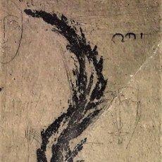 Arte: GATO CAZANDO. GRABADO SOBRE PAPEL. FIRMADO. DEDICATORIA AUTÓGRAFA. FRANCIA. 1954. Lote 108450967