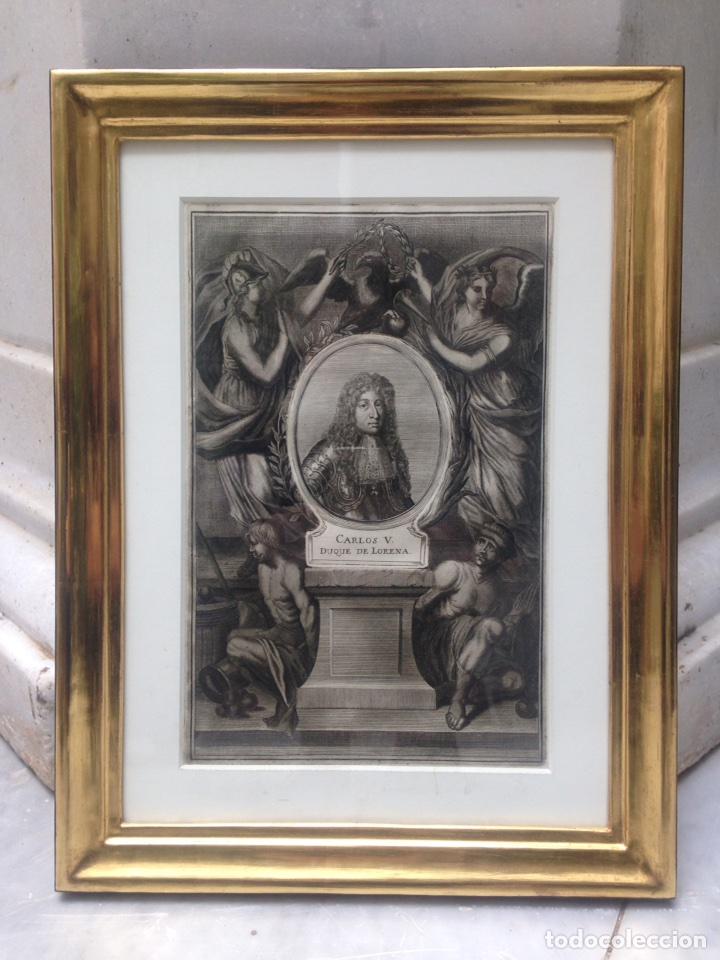 grabado siglo xviii con marco dorado oro 18 kil - Comprar Grabados ...