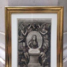 Arte: GRABADO SIGLO XVIII CON MARCO DORADO ORO 18 KILATES. Lote 109073576