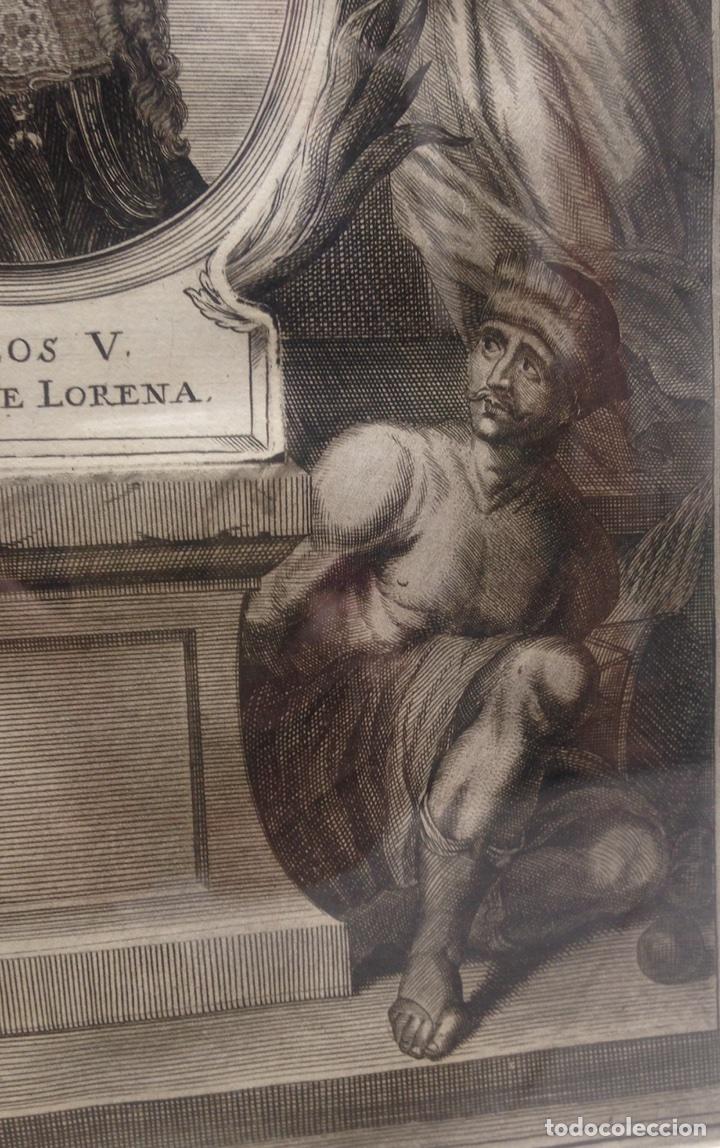Arte: Grabado siglo XVIII con marco dorado oro 18 kilates - Foto 4 - 109073576