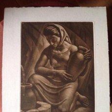 Arte: TEODORO MICIANO. EN LA FUENTE.. Lote 109136119