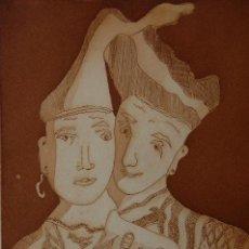 Arte: FJ CASTILLO MÁLAGA 1961GRABADO AGUAFUERTE-AGUATINTA DE 18X26 PAPEL DE 35X36 CM.IL TROVATORE II.PA.. Lote 109157927